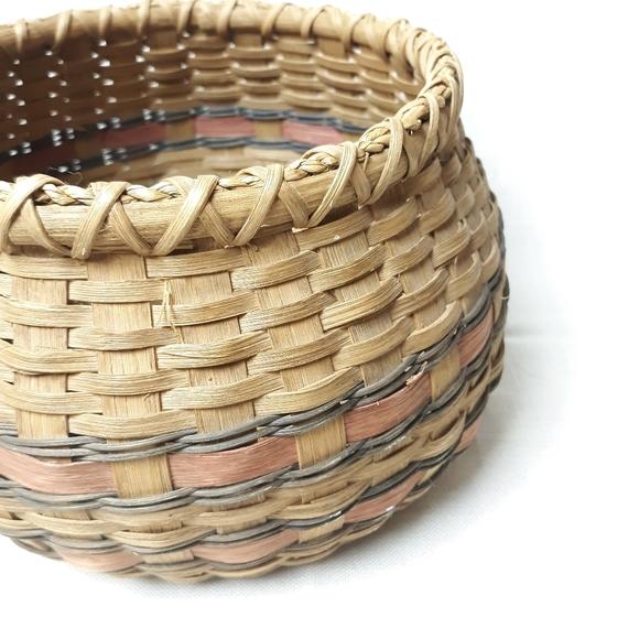 Vintage wicker plant pot basket